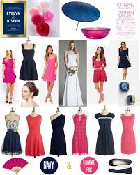 what goes with pink get inspired classic navy with punchy pink the broke ass bride