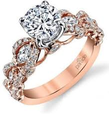 floral engagement rings hemera floral diamond engagement ring williams jewelers