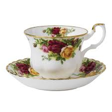 royal albert country roses teacup and saucer set royal