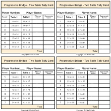 two table progressive tally 4 table progressive game tally sheet tally score sheet for a two