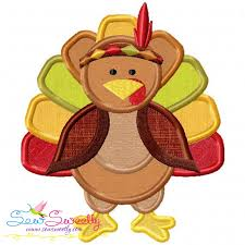 indian pilgrim turkey machine applique embroidery design