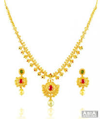 gold stones necklace images Elegant 22k precious stone necklace ajns58291 beautiful 22k jpg