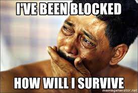 Blocked Meme - i ve been blocked how will i survive crying man meme meme generator