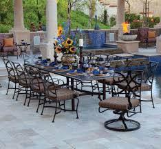 Wrought Iron Dining Room Chairs Large Wrought Iron Patio Dining Set For 10 People Big Outdoor