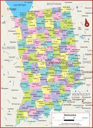 Map Of Illinois And Indiana by Indiana Wall Map Political