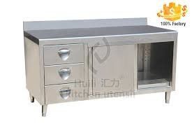 Stainless Steel Singledeck Cabinet Burger Restaurant Equipment - Single kitchen cabinet