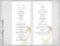 order wedding programs wedding program template starfish wedding
