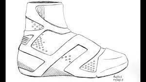 basketball shoes coloring pages eliolera com