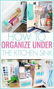 how to organize the sink cabinet 15 genius the kitchen sink organization ideas
