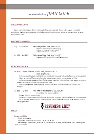 Ms Word Resume Template Free Resume Template Free 2017 Resume Builder