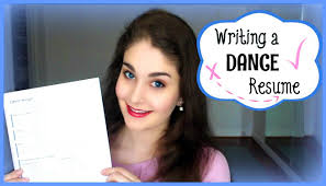 dance resume examples writing a dance resume kathryn morgan youtube
