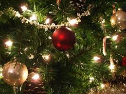 christmas tree with lights u2013 happy holidays