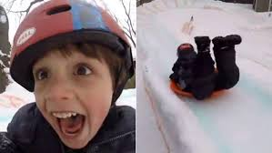 awesome uncle builds backyard luge for kids films the glee
