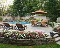 Inground Pool Landscaping Ideas Inground Pool Landscaping Images Jaw Dropping Flower Beds