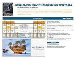 amtrak schedules trains for thanksgiving travel michigan