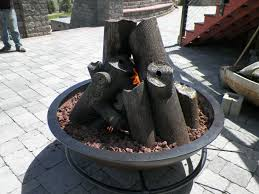Gas Fire Pit Logs by Hand Made Gas Fire Cauldron With Steel Logs By Hellgate Forge