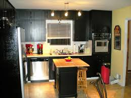 Black Distressed Kitchen Island by Kitchen Design Edmonton Previousnexttowne Countree Kitchens
