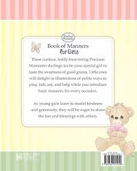 precious moments book manners girls precious moments