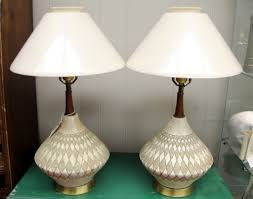modern ceramic table lamps found in ithaca authentic teak and pottery table lamps mid