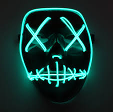 mask from halloween movie amazon com asvp shop led light up mask from the purge election