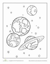 outer space planets coloring pages pics space
