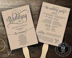 wedding program fan template template wedding program fan template