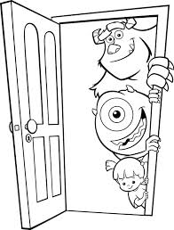 monsters inc coloring pages boo monsters inc coloring book as well as monsters inc boo coloring
