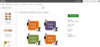 Halloween Stickers Printable by Free Halloween Templates And Printables For Microsoft Office