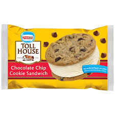 nestle toll house chocolate chip cookie sandwich 6 fl oz pack