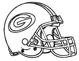 football helmet green bay packers coloring page kids coloring in