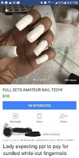 Nail Tech Meme - 4 all 679 807 pm 440 views full sets amateur nail tech 10 i m