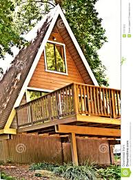 wooden a frame house deck stock photos image 11317613