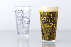 houston map glasses maps barware theuncommongreen