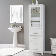 bathroom vanity with linen tower storage cabinets linen towers free standing cabinets for
