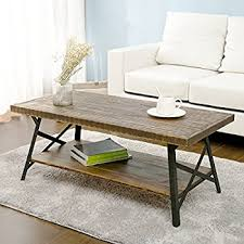 living room table in living emerald home chandler rustic industrial solid wood and