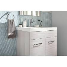 Glacier Bay Bathroom Vanities by Glacier Bay Stancliff 24 5 In W Vanity In Elm Sky With Cultured