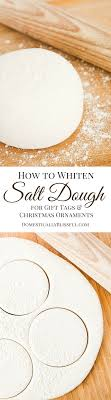 to whiten salt dough