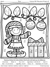 christmas math coloring pages funny coloring