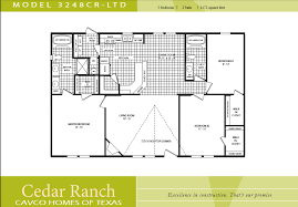 3 bed 3 bath 3 bedroom 2 bathroom floor plans layout 7 cavco homes floor plan