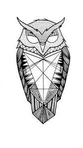 Owl Tattoos - best 25 geometric owl ideas on geometric owl