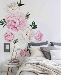 peony flower wall sticker vivid pink watercolor peony wall zoom