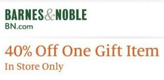Barnes And Nobles Coupon Daily Cheapskate 40 Off One Gift Item At Barnes U0026 Noble