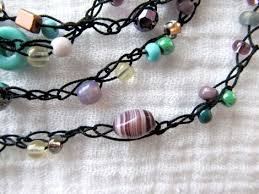 string beads necklace images Crochet beaded necklace tutorial dixiebelle gifts store jpg