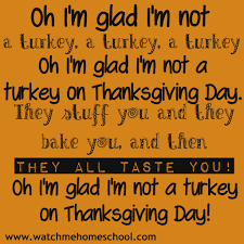 silly thanksgiving poem me homeschool