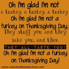 silly thanksgiving poem me homeschool