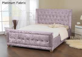 Amazon Fabric Bed Frames Sweet Dreams Galaxy Crushed Velvet Pearl Fabric 4ft6 Double Bed