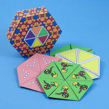 how to make a hexa hexaflexagon geometric toys to make aunt