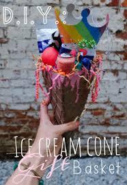 Ice Cream Gift Basket D I Y Ice Cream Cone Gift Basket My Friend Court