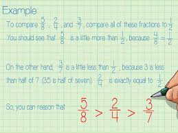 comparing and ordering fractions and mixed numbers worksheet 3 ways to compare and order fractions wikihow