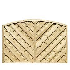 grange st lunair arched fence panel w 1 8 m h 1 2m pack of 5